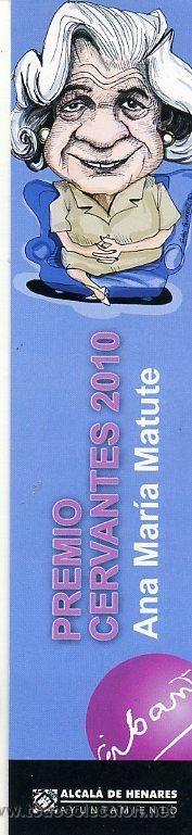 marcapaginas- alcala de henares / madrid - ana maria matute / premio cervantes - pila bautismal (Papel - Marcapáginas)