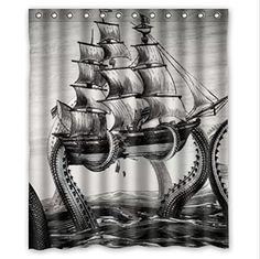 Monster Shower Curtain - Foter
