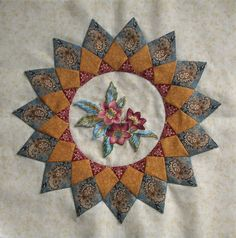 For now, my focus project is Antique Wedding Sampler by Di Ford. Notice that I wrote 'for now' because I'm not really a one-project-stitcher. Quilting Projects, Quilting Designs, Quilt Design, Quilting Ideas, Sunflower Quilts, Patch Quilt, Quilt Blocks, Civil War Quilts, Medallion Quilt