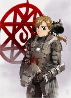 "Armored alchemist - Alphonse wearing Iron Man's ""War Machine"" armor"