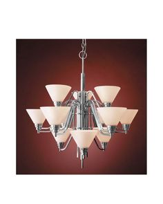 Vaxcel Lighting CH28112 CH Twelve Light Chandelier in Polished Chrome Finish