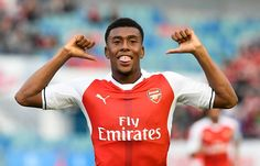 Alex Iwobi...an Arsenal legend in the making!   (photo JONATHAN NACKSTRAND/AFP/Getty Images)