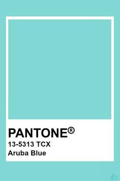 Pantone Aruba Blue Pantone Tcx, Pantone Blue, Pantone Swatches, Pantone Colour Palettes, Paint Color Palettes, Colour Pallete, Color Swatches, Colour Schemes, Pantone Color