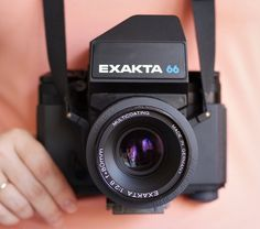 Exakta 66 MOD3 This is the last incarnation of Pentacon Six system. Unlike its predecessor, Exakta have modern rubberized design & some improvements on the technical side (eg., mirror pre-release, bright viewfinder, original TTL metering system, spring lock on back cover).