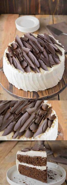 IRISH CHOCOLATE CAKE WITH BAILEYS BUTTERCREAM FROSTING - buttercream, cake, chocolate, dessert, milk, recipes, tart