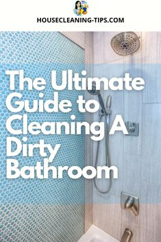 A grimy bathroom is something most people cannot tolerate. Cleaning it weekly or more frequently, if you have a large family, does not have to become an all day job. #dirtybathroom #cleaningabathroom #bathroomcleaningtips