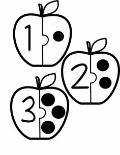 Free Apple Number Puzzles | Zahlen vorschule, Mathe für ...