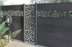 sichtschutz aus edelstahlelementen – Google Suche Gate Wall Design, Front Gate Design, Front Gates, Entrance Gates, Home Building Design, House Design, Outdoor Screen Panels, Privacy Fence Designs, Bedroom Closet Design