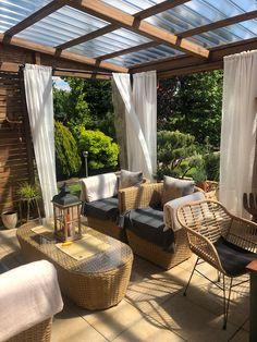 My Patio Design, Backyard Patio Designs, Balcony Design, Diy Patio, Patio Railing, Patio Gazebo, Outdoor Spaces, Outdoor Living, Outdoor Decor