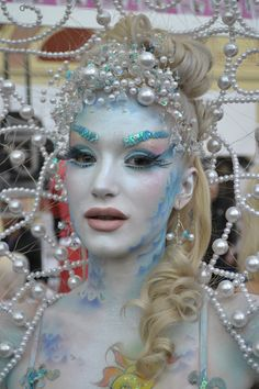 IMATS beautiful mermaid, pearl makeup