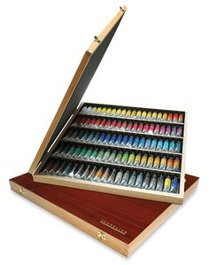 Sennelier French Artists Watercolor 98 Tube Wood Box Set so amazing.  So want it. but its like $1,250