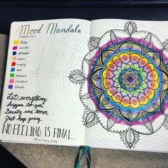 Bullet Journal  February  Mood Mandala  Printable Pdf Page