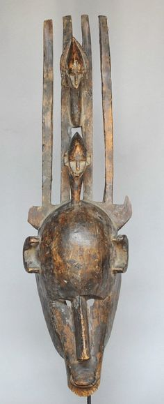 Grand masque Bamana Bambara art africain tribal Mali arte africano Afrika kunst | eBay