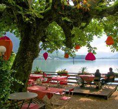Beer Garden in Austria