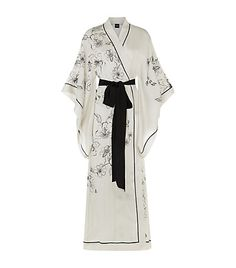 Carine Gilson Long Silk Kimono Robe available to buy at Harrods. Shop online & earn reward points. Luxury shopping with Free Returns on UK orders.