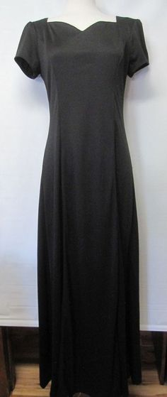 STAGE ACCENTS Long Black DRESS Dahlia Sweetheart Neck Choir/Music Performance 8 #StageAccents #Gown