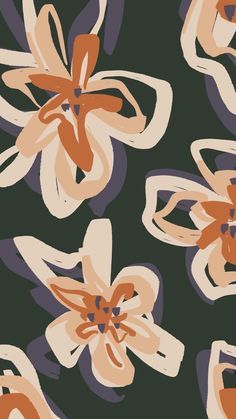 Fall floral repeated flower drawing created in Procreate on iPad Pro. Autumn Fall floral repeated flower drawing created in Procreate on iPad Pro. Ipad Pro Background, Iphone Background Wallpaper, Aesthetic Iphone Wallpaper, Aesthetic Wallpapers, Macbook Pro Wallpaper, Artsy Background, Orange Background, Wallpapers Ipad, Pretty Wallpapers