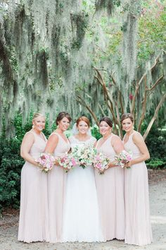 Blush pink bridesmaid dresses for fall wedding {Judy Nuñez Photography}
