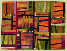"Image of quilt titled ""A Notion of Motion,"" by Carol Jerome"