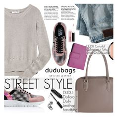 """Street Style with Dudubags"" by pokadoll ❤ liked on Polyvore featuring T By Alexander Wang, Karl Lagerfeld, DUDU, Bobbi Brown Cosmetics, Smashbox, MAC Cosmetics and dudubags"