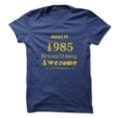 Made in 1985 - 30 years of being awesome - #handmade gift #gift friend