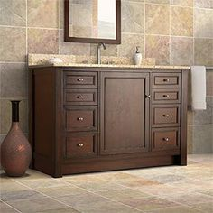 "Bathroom Cabinets Costco for the bathroom to the pool $899.99 @costco marshall 48"" single"