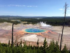 Grand Prismatic Spring in Yellowstone National Park, WY