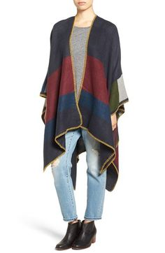 Treasure&Bond Colorblock Poncho available at #Nordstrom