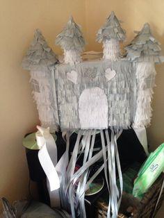Homemade pull string princess piñata