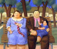 In The Park - Fernando Botero