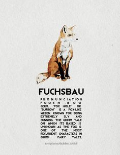 Grimm creatures + Wesen. A Fuchsbau is actually the hole foxes live in.