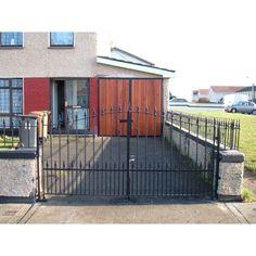 Metal Gates - Dublin Quality Gates - Gates and Railings Made to Order Wooden Garden Gate, Garden Gates, Gates And Railings, Side Gates, Metal Gates, Security Door, Dublin, Garage Doors, Outdoor Decor