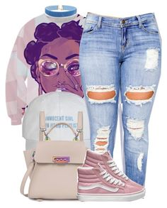 """""""cotton candy dreamz"""" by trinsowavy ❤ liked on Polyvore featuring ZAC Zac Posen, Clayton and Vans"""