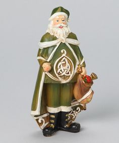 Take a look at this Woodcut Irish Santa Figurine by Roman, Inc. on #zulily today!