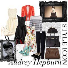 """Audrey Hepburn Style"" by pavlyngirl on Polyvore"