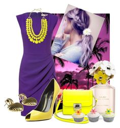 """""""Purple Pride"""" by gryphonsnest ❤ liked on Polyvore featuring Marc Jacobs, Michael Kors, Yves Saint Laurent, Marc by Marc Jacobs, Towne & Reese, contemporary, vintage, complementarycolors, purpleandyellow and vintagejewelry"""