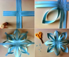 Christmas Decorations: Easy paper stars: These homemade Christmas ornaments bring me much attention. These paper stars are very easy to make with paper, glue and scissors, which can also serve to recycle scraps of wrapping paper or colored pages that you Homemade Christmas, Christmas Crafts, Christmas Decorations, Christmas Ornaments, Origami Christmas, Christmas Stars, Homemade Ornaments, Christmas Paper, Blue Christmas