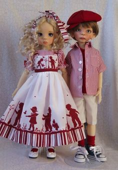 """Sweet Silhouettes OOAK Outfit for 17"""" Kaye Wiggs MSD BJD Maurice by Gloria 