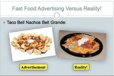 Fast food essay in english Fast food, the type of food changed our lives. According to Bender and Bender, fast food is a general term used for a limited menu of foods that lend. Health Lesson Plans, Health Lessons, Nachos, Fast Food Advertising, Taco Bell, High School Health, Health Education, Health Class, Health Resources