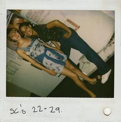 Chloë Sevigny and Rosario Dawson in never-before-seen behind the scenes polaroids of Larry Clark's Kids (1995)