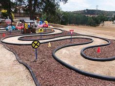 carc race tracks for kids painted on concrete - Google Search