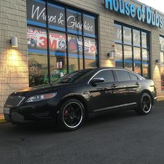 "Ford Taurus on 20"" azad wheels #staggered #samedaydelivery #westockit #lastminutegifts #ford #taurus #dmv #houseofdubs thehouseofdubs.net"