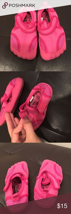 Pink water shoes Worn once indoors , great condition. Toys R Us Shoes Water Shoes