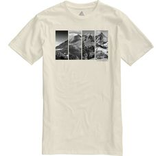 Burton Four Seasons short sleeve slim fit t-shirt Vanilla