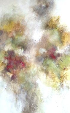 """Melissa Payne Baker, """"Gold Leaf,"""" mixed media on canvas, 60 x 36"""