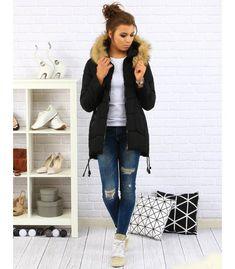 Dámska čierna prešívana zimná bunda s kapucňou Parka, Vest, Jackets, Fashion, Down Jackets, Moda, Fashion Styles, Fashion Illustrations, Parkas