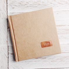 """""""Love"""" Copper Plate Kraft Notebook by Papemelroti. Visit www.papemelroti.com for more!"""