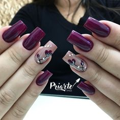 Amazing wine red nail polish spring nails 17 Amazing Nail Polish Hacks That You'll Love Trendy Nail Art, Stylish Nails, Spring Nail Art, Spring Nails, Fall Nails, Fall Nail Designs, Acrylic Nail Designs, Pedicure Designs, Gel Nail Art