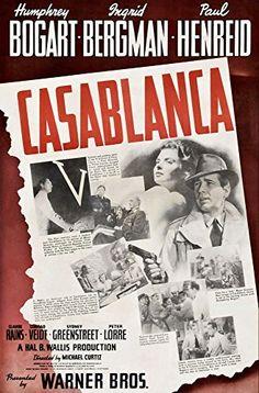 'Casablanca' (7) - (Humphrey Bogart, Ingrid Bergman 1942) - A4 Glossy Print Taken From A Rare Vintage Movie / Film Poster by Design Artist http://www.amazon.co.uk/dp/B00AZCXNK2/ref=cm_sw_r_pi_dp_yzZjvb1G8PW7K