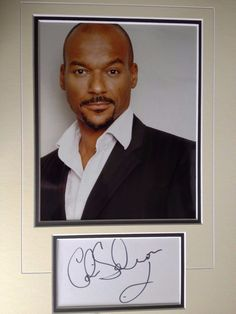 Colin Salmon - James Bond Film Actor  - Excellent Signed Colour Display